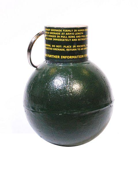 Ball Grenade, Abreisszündung, Farbpulver