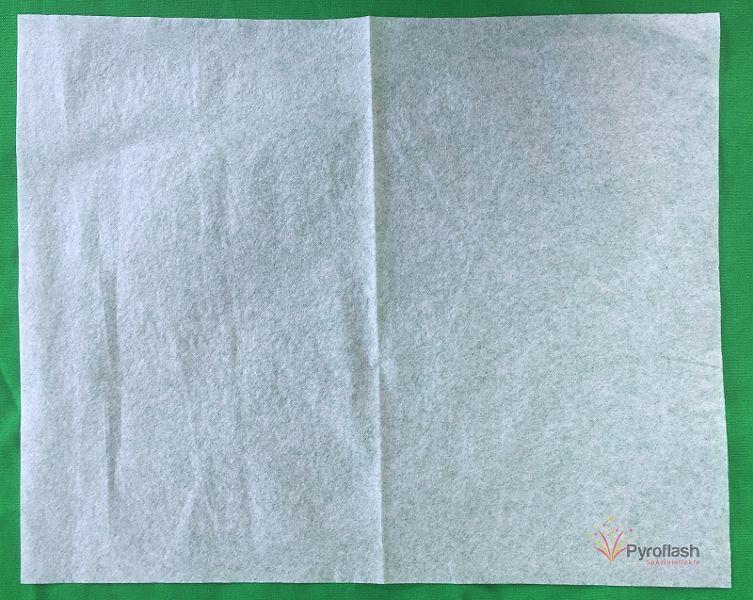 Pyropapier, weiß, dünn, 20 x 25 cm, 10 Bögen