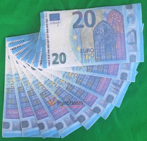 Pyrogeld, 20 EUR Scheine, 10 Stück