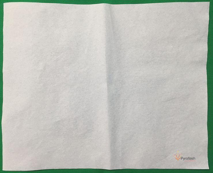 Pyropapier, weiß, mittel, 20 x 25 cm, 10 Bögen