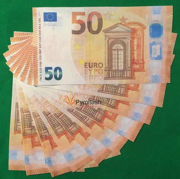Pyrogeld, 50 EUR Scheine, 10 Stück
