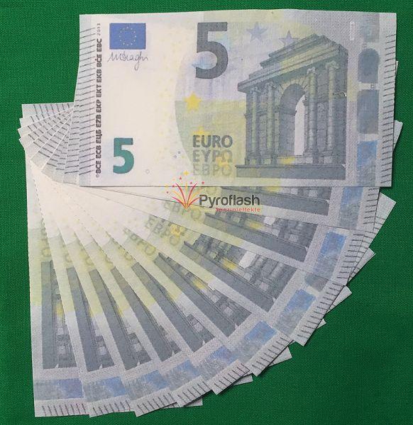 Pyrogeld, 5 EUR Scheine, 10 Stück