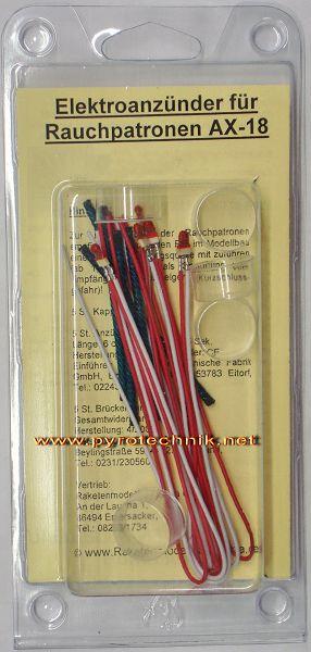 Elektroanzünder für Rauchkörper AX 18
