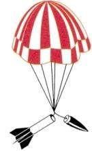 Fallschirm für Modellraketen 40 cm