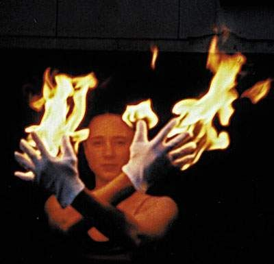 Flaming hands