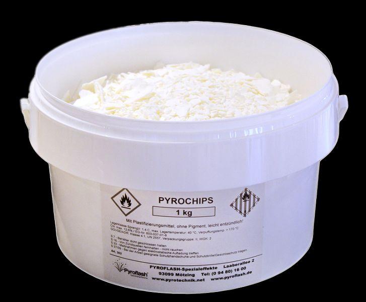 Pyrochips, weiß (gelb brennend), 1 kg.
