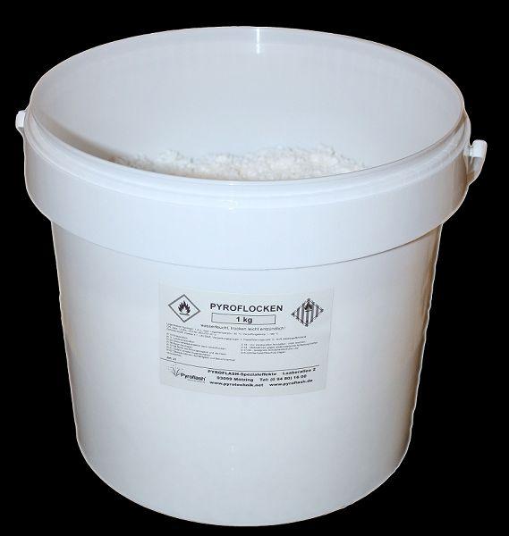 Pyroflocken, weiß (gelb brennend), 1 kg.