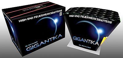 Gigantika, 16 Schuss Fächer Batterie